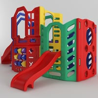 children slide playground model