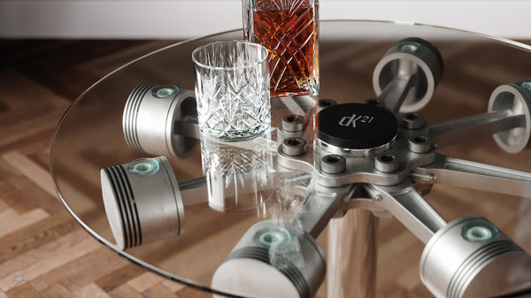3D coffee table pistons