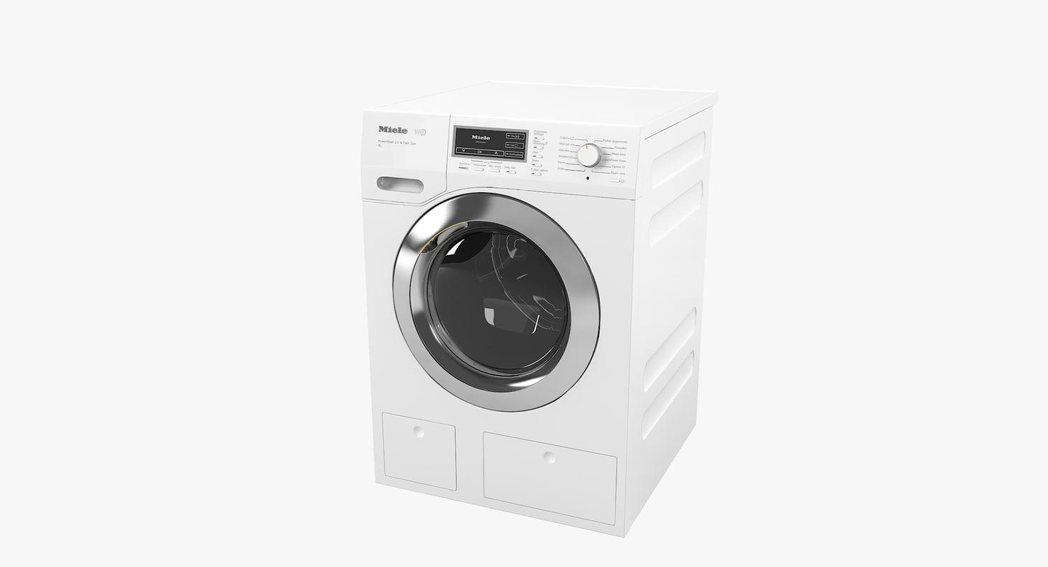 3D miele w1 washing machine