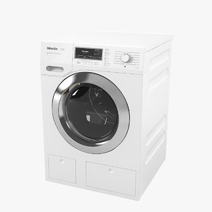 3D miele w1 washing machine