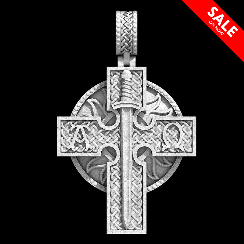 3D celtic cross model