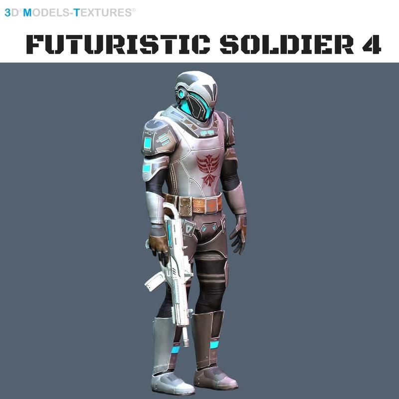 3D futuristic soldier