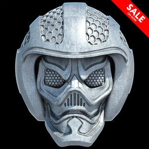 3D goblin skull model