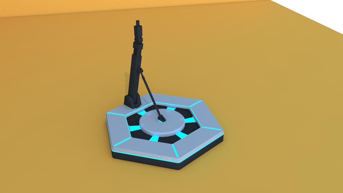 gundam stand base 3D