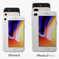 3D model iphone 8 phone