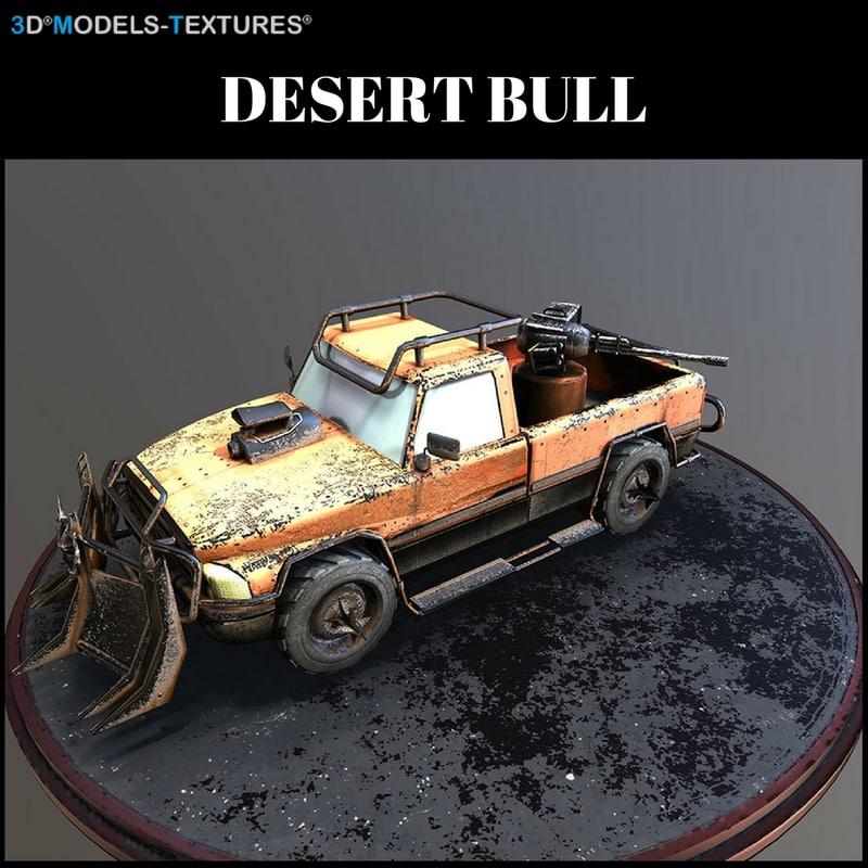 3D desert bull
