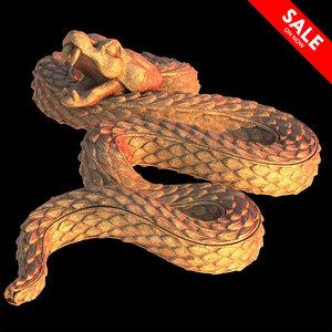 3D terracotta snake