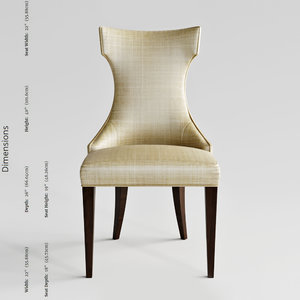 councill elise chair 3D model