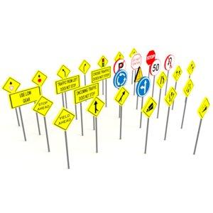 street signs 3D model