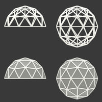 geodesic dome icosphere 3D