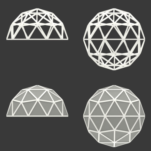 Geodesic Dome Template: Geodesic Dome Icosphere 3D