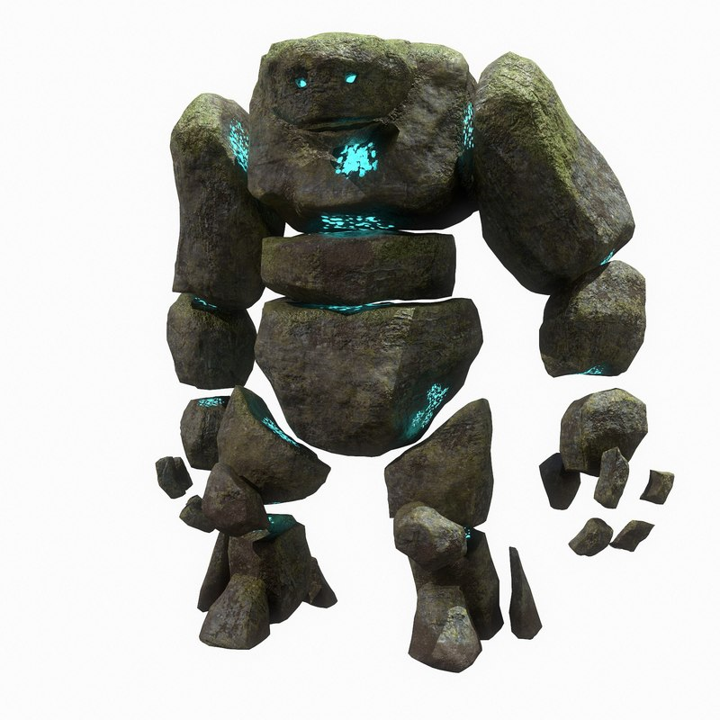 3D golem animations