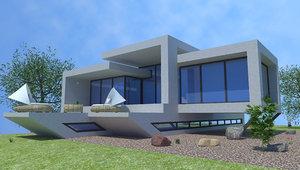 beach villa miami 3D