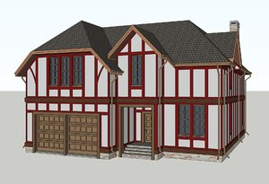 3D classic house