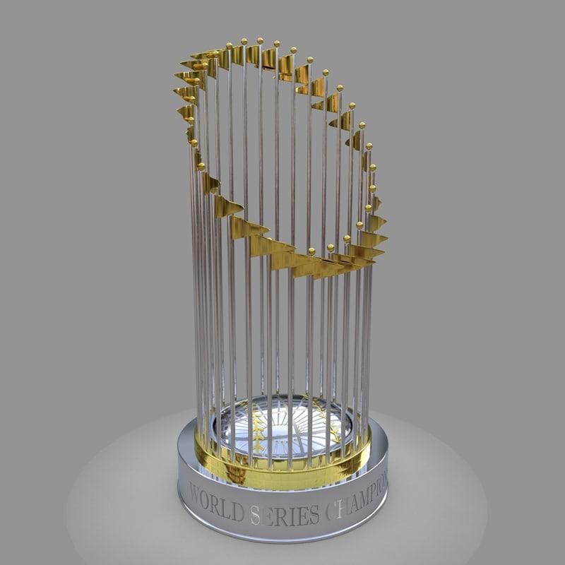 world series champion baseball 3D