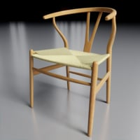 3D wishbone chair