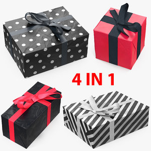 gift boxes 7 3D model