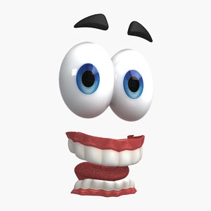 cartoon eyes teeth model