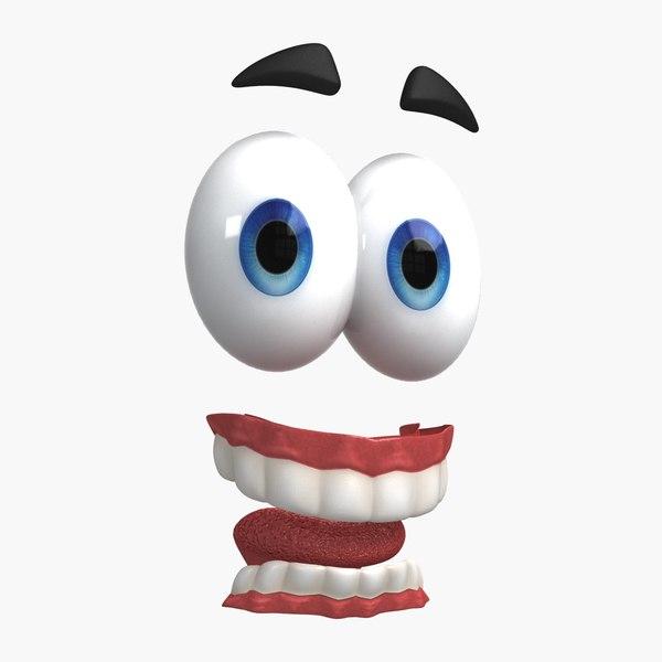 cartoon eyes teeth model