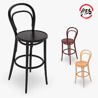 3D model chair bar viennese 2