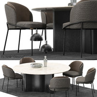 3D minotti fil noir set model