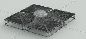 3D model nordst elegante public seating