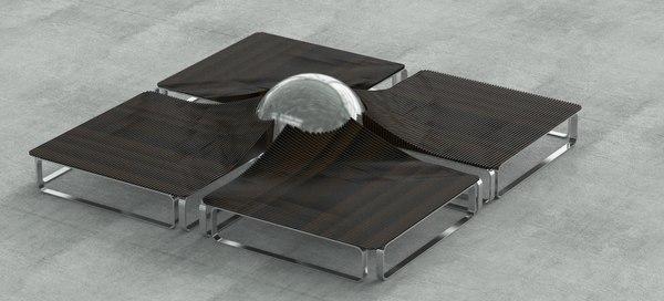 3D nordst elegante public seating