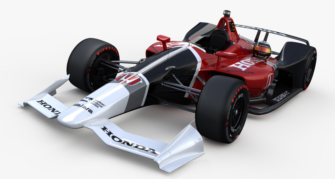 3D indycar honda super speedway