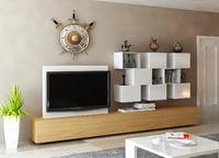 3D tv wall unit