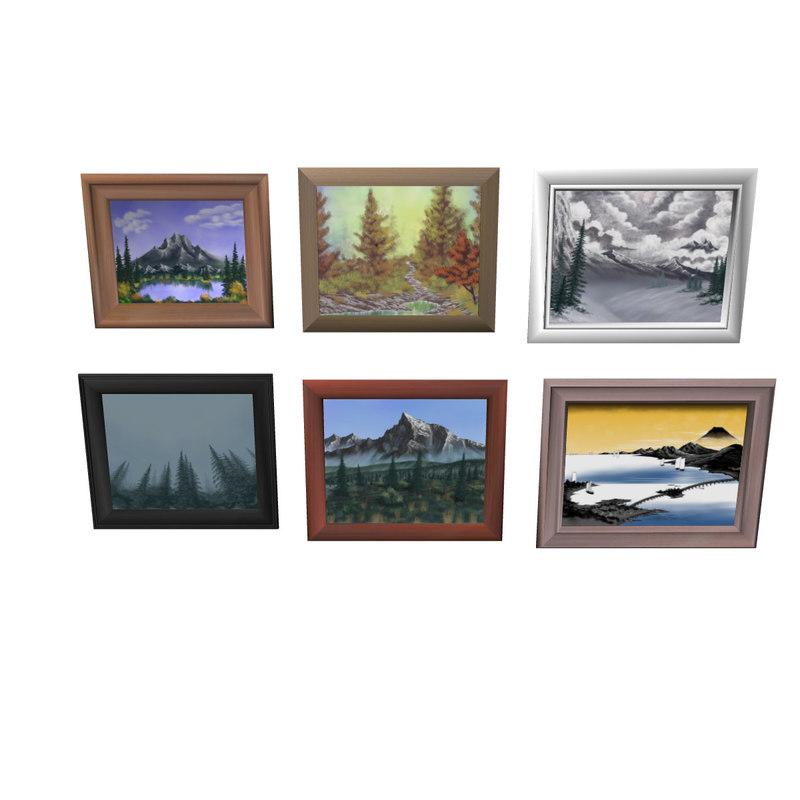 paintings frame 3D model