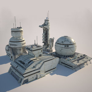 3D pack futuristic buildings xxi