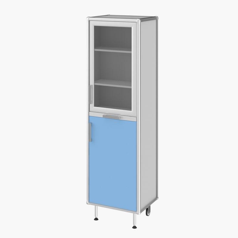 realistic medical cupboard 3D model
