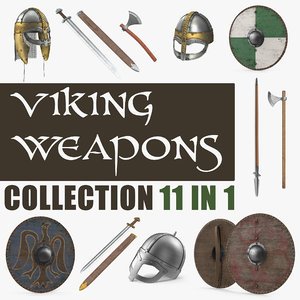 3D viking weapons model