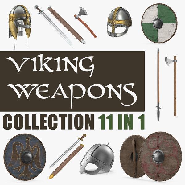 3D viking weapons model