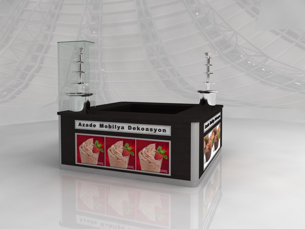 chocolate stand 3D model
