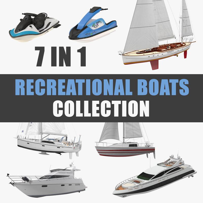 3D recreational boats model