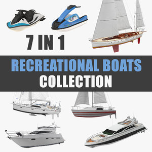 3D recreational boats model