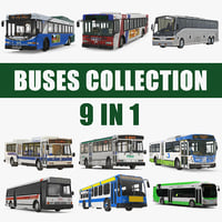 Buses 3D Models Collection 7