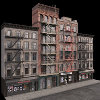 photorealistic buildings set 3D model