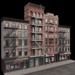 photorealistic buildings set 3D model