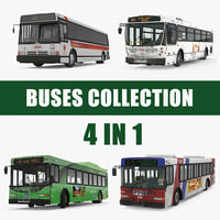 Buses 3D Models Collection 6