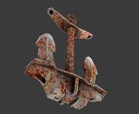 anchor holla 3D model