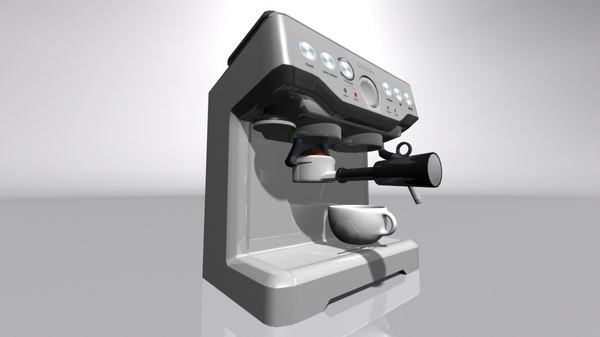 3D coffee espresso machine model