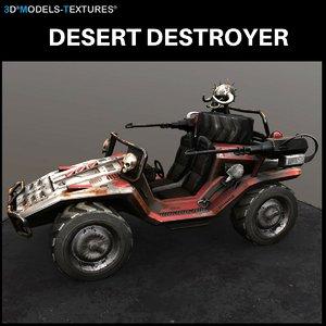 desert destroyer 3D model