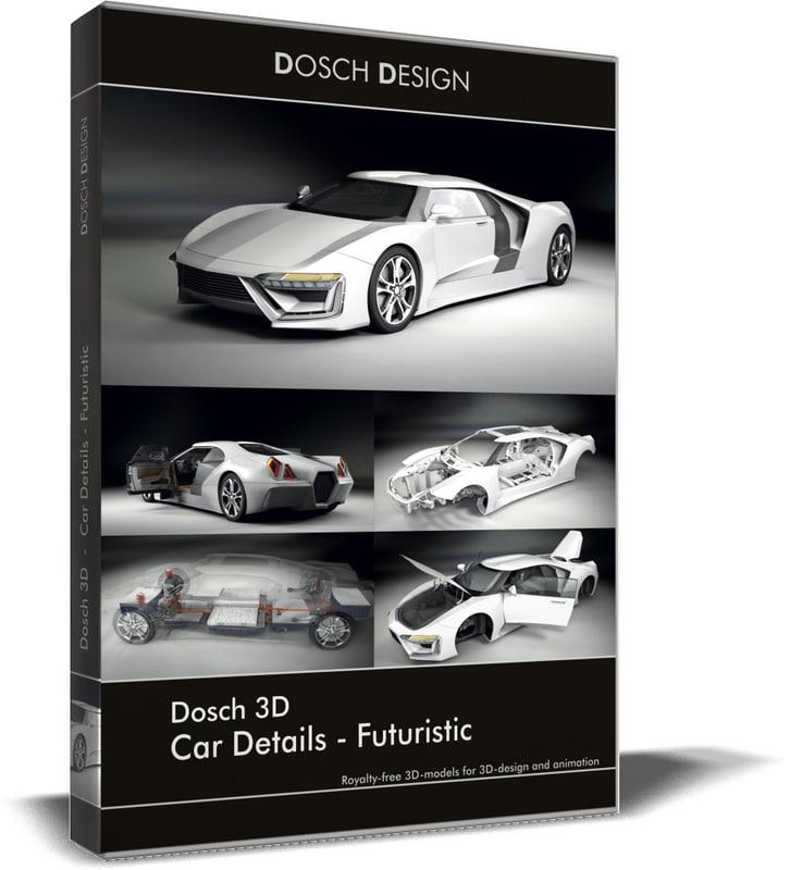 3D model dosch car details -