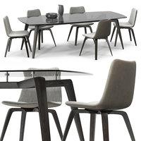 michelle chairs set 3D model