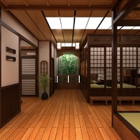 japanese room 3D