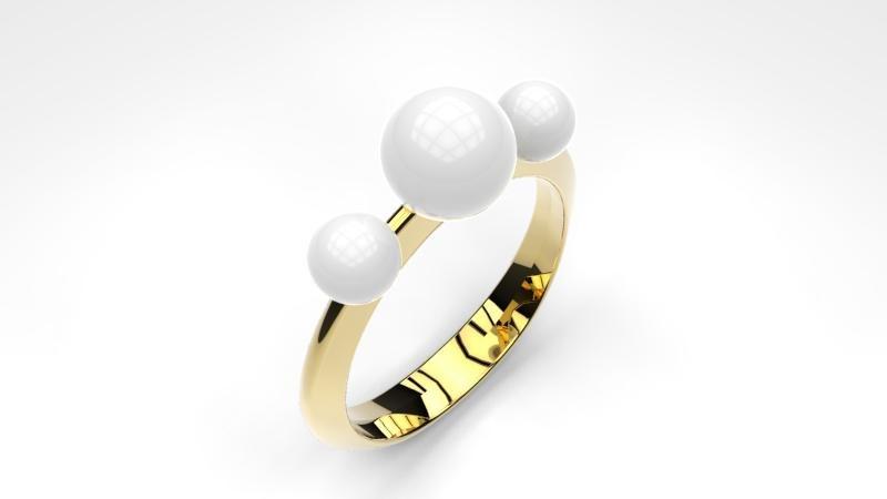 3D pearl ring model
