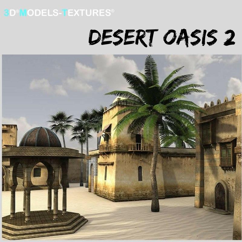 buildings desert oasis model