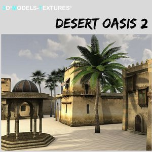 buildings desert oasis model